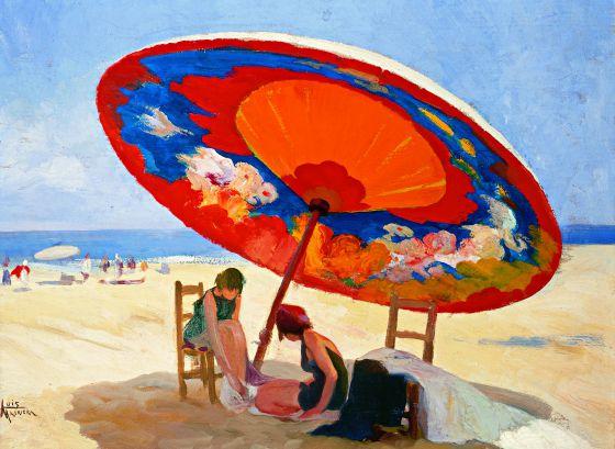 bajo la sombrilla de llus masriera - Sombrillas De Playa Grandes