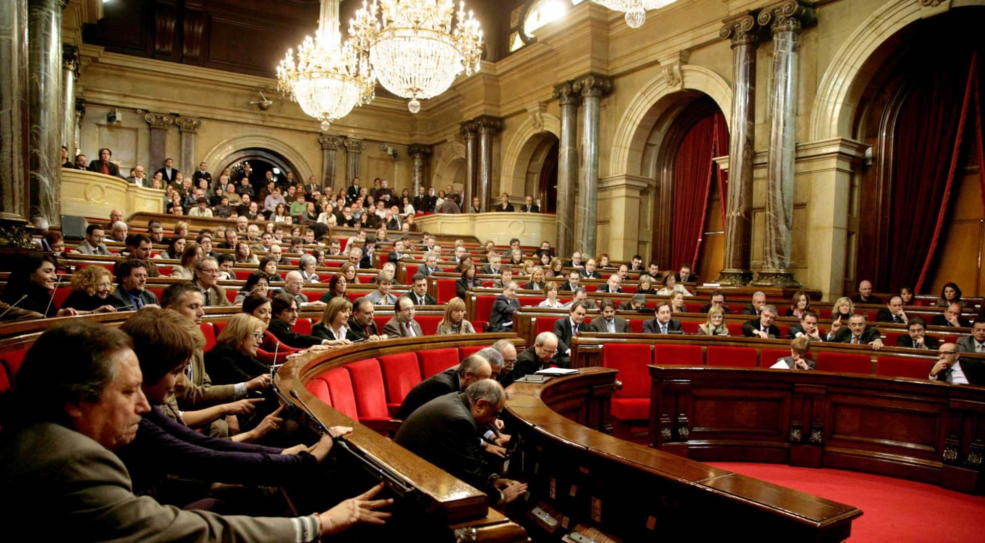 Claves de la sesi n de constituci n del parlamento catal n for Mesa parlament