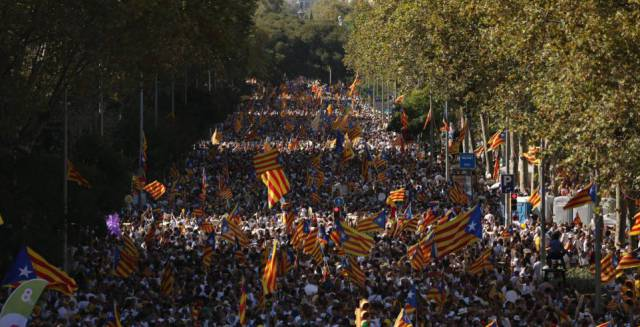 Catalan separatists put on show of force at Diada celebration