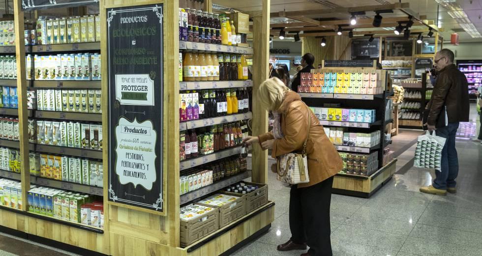 60063a66c8a El Corte Inglés presenta su linea de productos ecologicos en el supermercado .rn