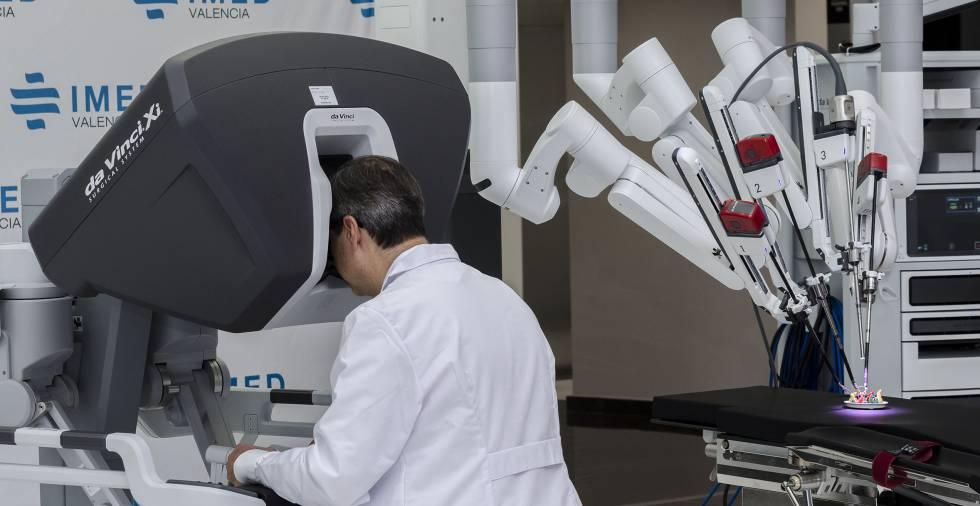 operación de próstata con robot o