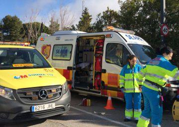 Un ciclista muere tras chocar contra un corzo en Rascafría
