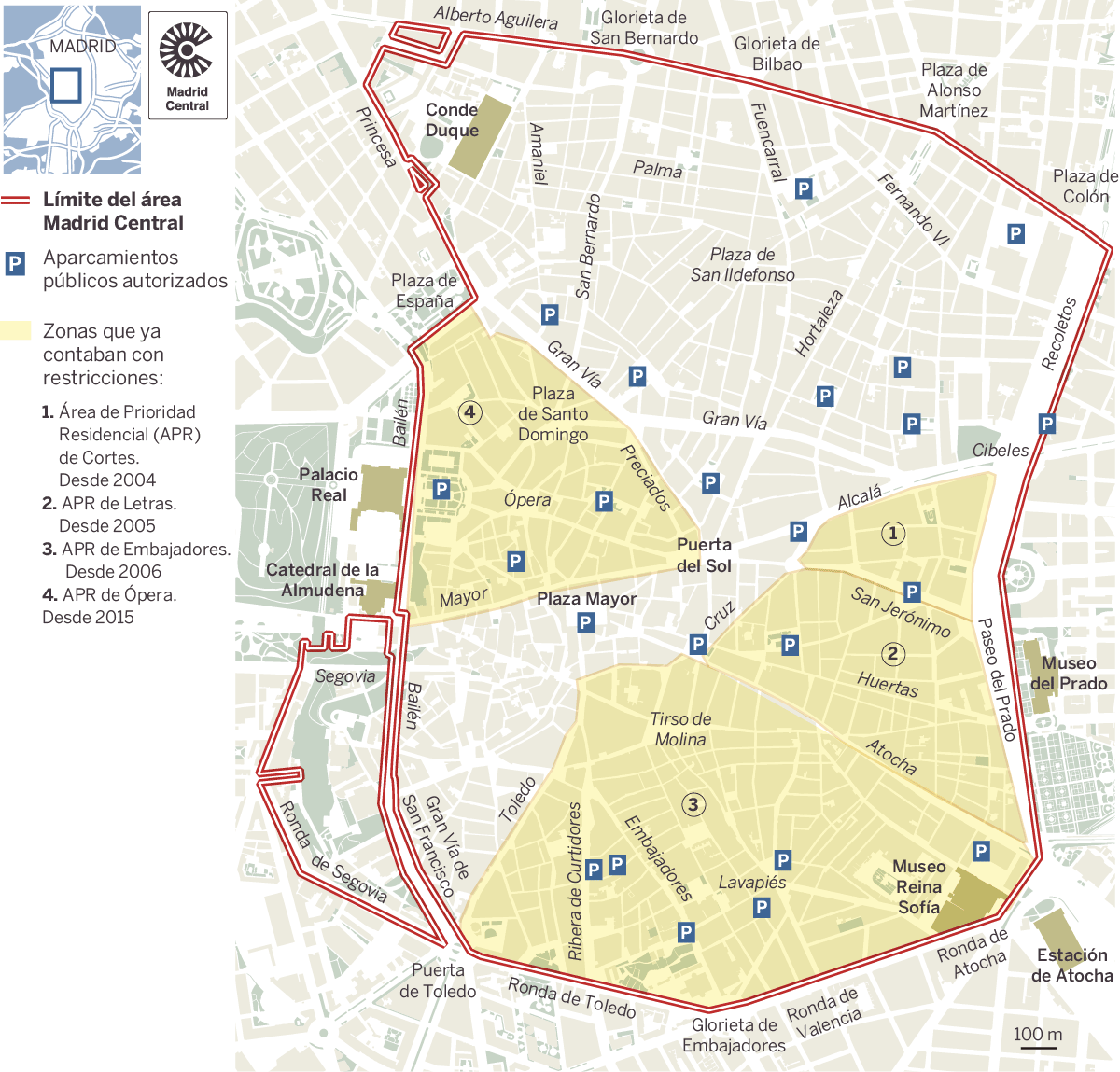 Restricciones Tráfico Madrid Mapa.Plano Este Es El Mapa De Madrid Central Madrid El Pais