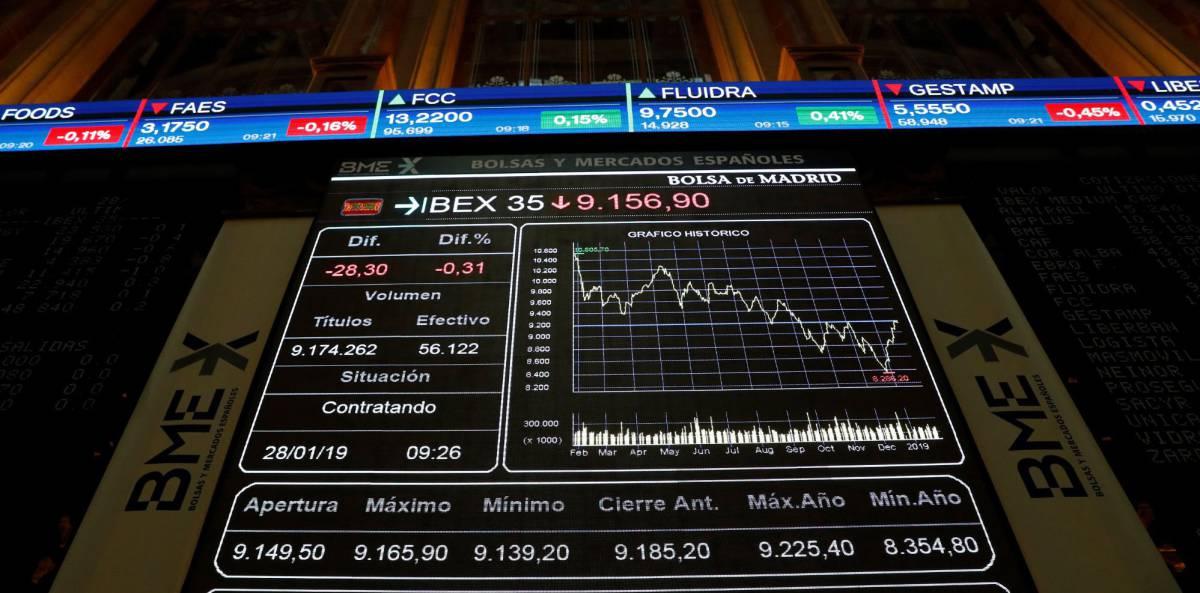 El Ibex inicia 2019 con paso firme: sube un 6% en enero y conserva los 9.000