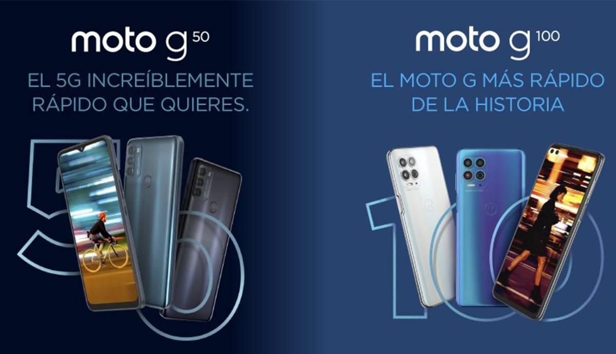 Motorola lanza dos nuevos smartphones en España, los Moto G50 y G100