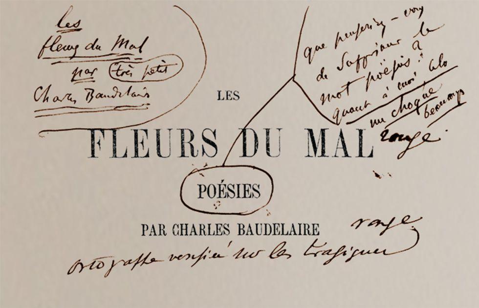 Baudelaire corrigió durante una década 'Las flores del mal ...