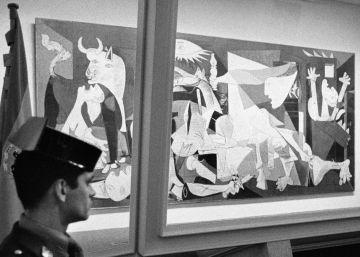 El 'Guernica' en la trituradora de Banksy