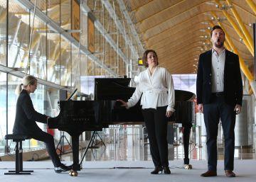 Ópera por sorpresa en el aeropuerto de Barajas