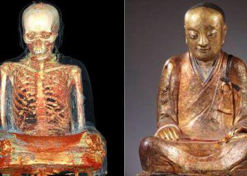 El misterio de la momia encerrada en un buda