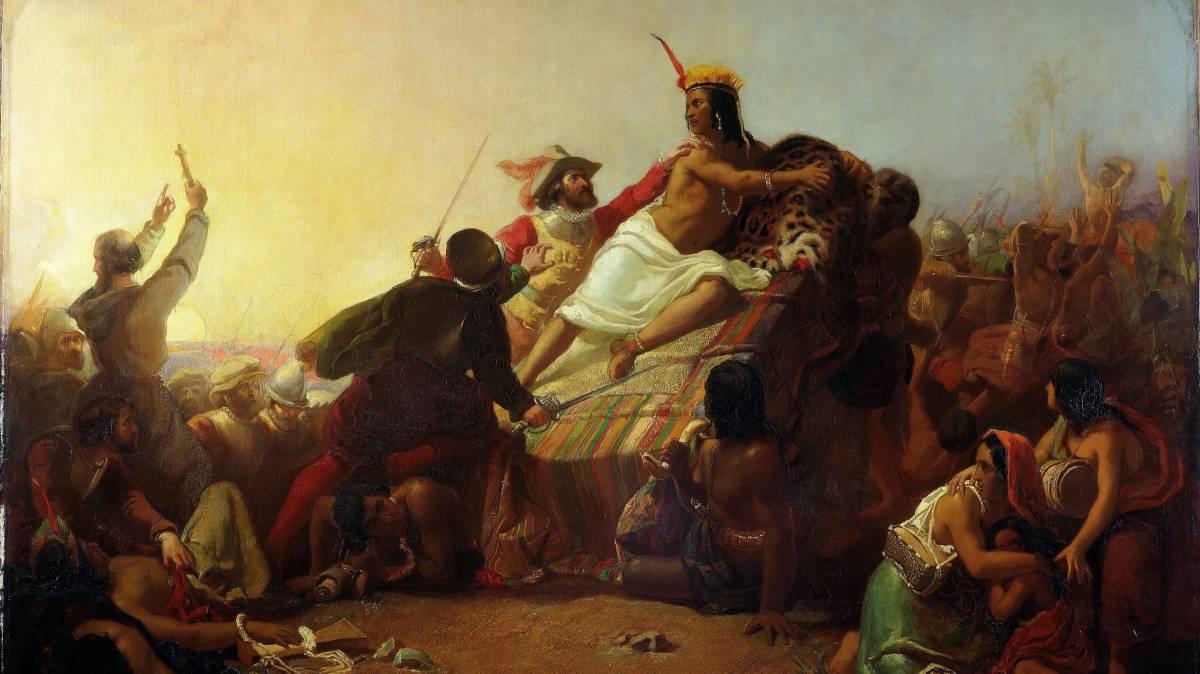 Cuando Atahualpa se coronó rey de España