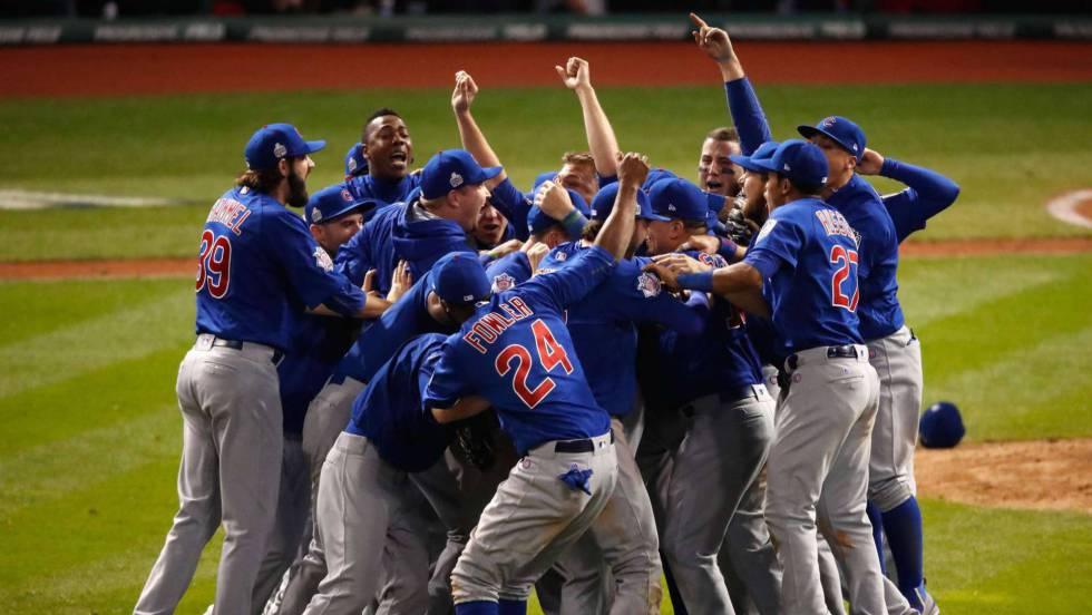 Resultado de imagen para chicago cubs ganan la serie mundial