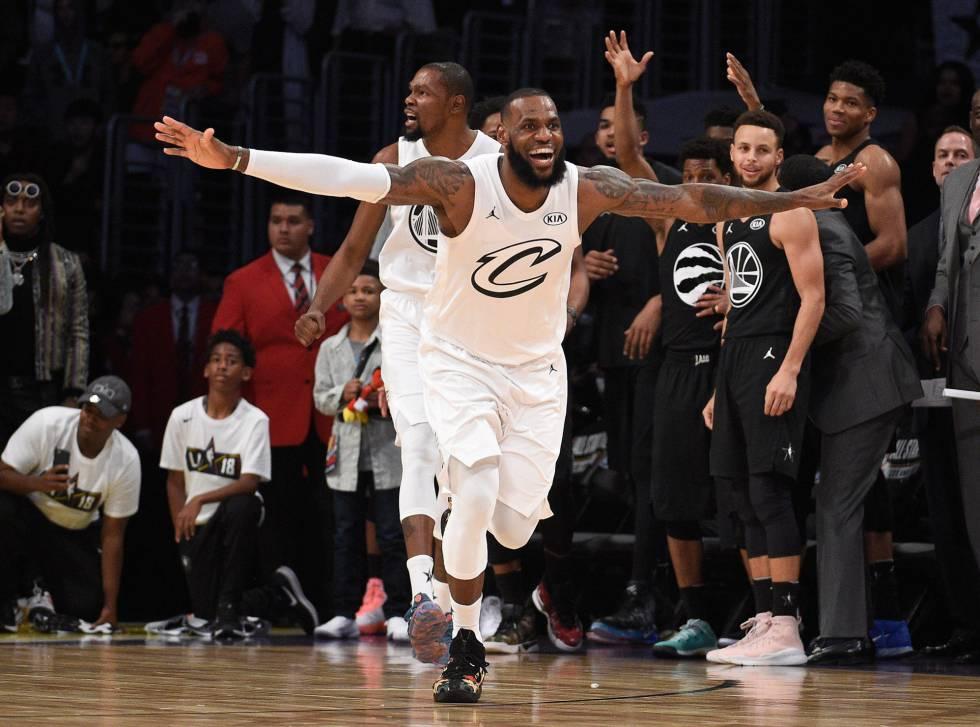 54ac1048e6a NBA  LeBron James se corona rey de un All Star 2018 que recupera toda su  magia