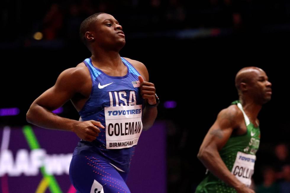 a9db6ec4fd Mundiales de Birmingham 2018: Christian Coleman ya tiene el récord del  mundo y el oro mundial | Deportes | EL PAÍS