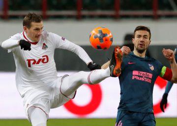 El Atlético golea al Lokomotiv en Moscú y pasa a cuartos de la Europa League