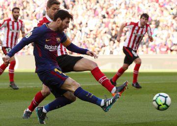 Un Barça con dos caras doblega al Athletic