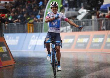 Carapaz, primer ecuatoriano en ganar una etapa en el Giro
