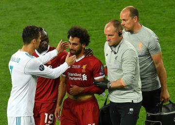 Salah y Carvajal se retiran entre lágrimas tras lesionarse en el primer tiempo