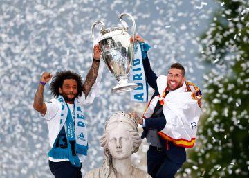 Celebración del Real Madrid, el campeón de la Champions 2018