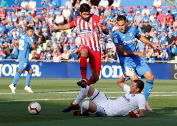 El Atlético supera al Getafe con dos goles de Lemar