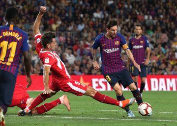 El Barcelona se encalla frente al Girona en el Camp Nou
