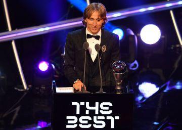 Luka Modric gana el Premio The Best 2018 con el 29,05% de los votos