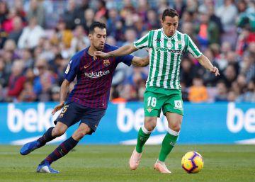 El Betis sorprende al Barcelona en el Camp Nou