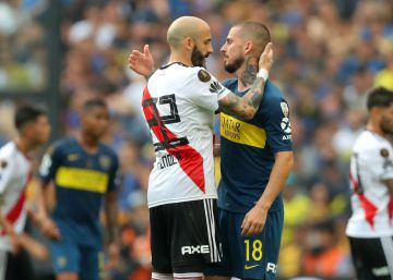 Boca y River empatan (2-2) en la final de ida de la Copa Libertadores