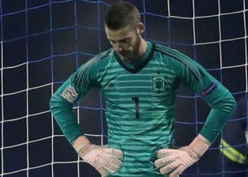 De Gea sufre con España