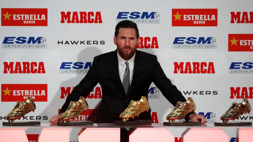 encontrar mano de obra hermosa en color mejores zapatillas de deporte Messi recibe su quinta Bota de Oro | Deportes | EL PAÍS