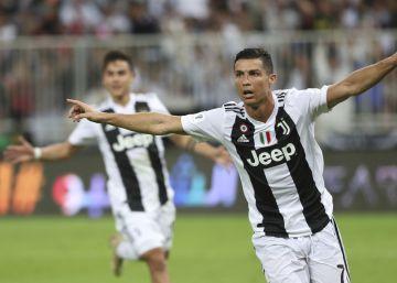 Cristiano gana su primer título con la Juventus, la Supercopa de Italia