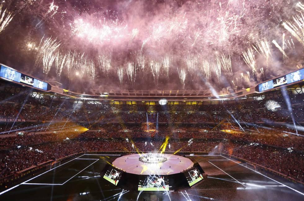 El estadio Santiago Bernabéu durante la celebración de la Champions League  conquistada por el Real Madrid 32306d26a6c19