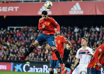 """Luis Enrique: """"Ha sido el mejor partido de Morata"""""""