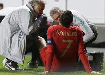 Cristiano se rompe contra Serbia y Portugal no pasa del empate