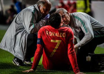 Cristiano sufre una lesión de 'gravedad leve' en los flexores del muslo derecho