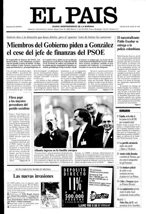Pablo escobar se entrega al Gobierno colombiano | Edición