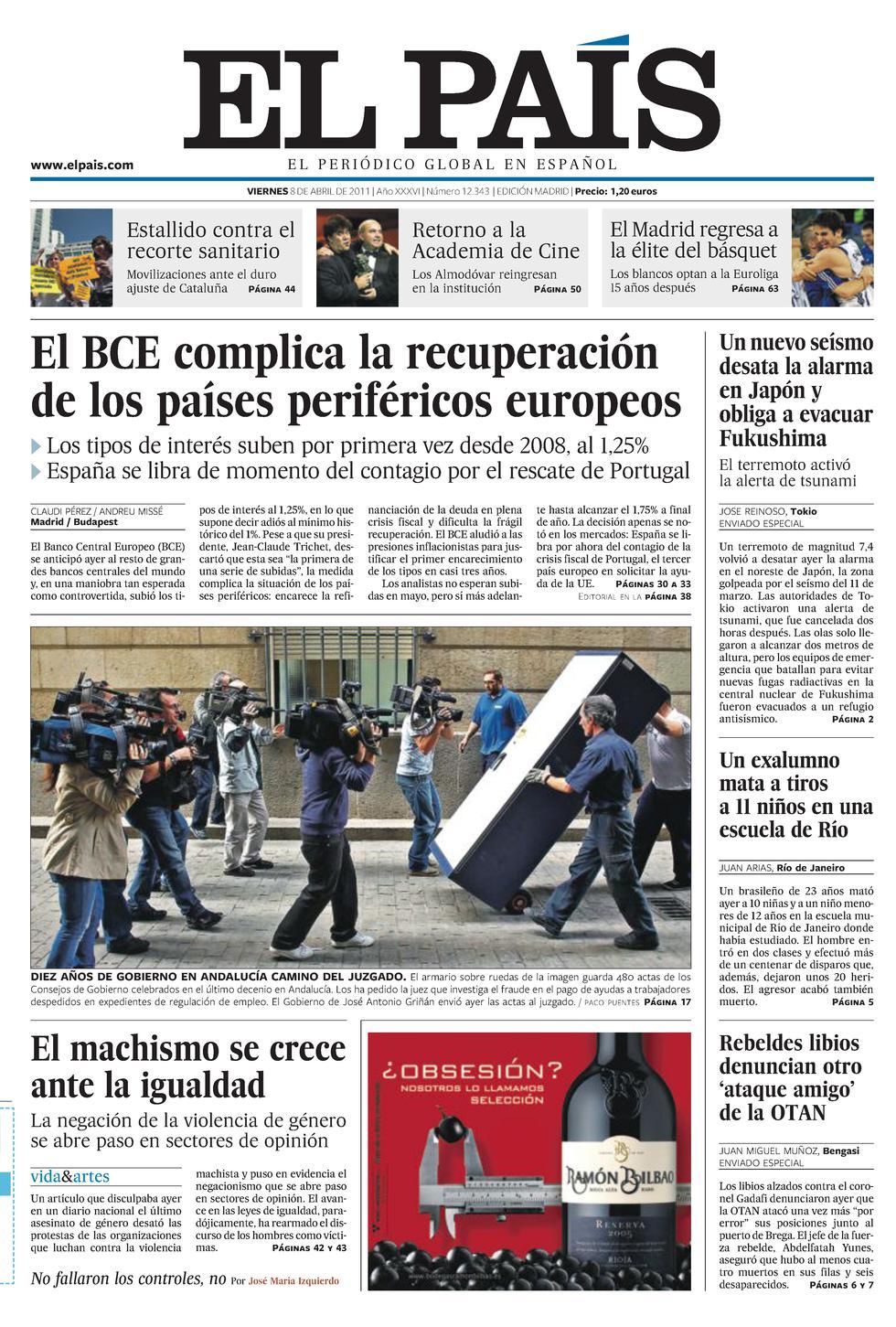Trichet sube los tipos y se da un respiro antes de reanudar la ...