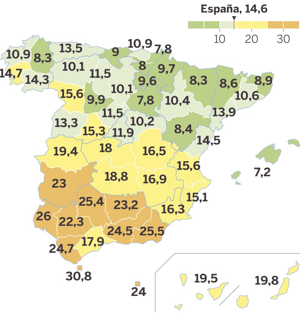 Seis Comunidades Ya Tienen Una Tasa De Paro Por Debajo Del 10 Economía El País