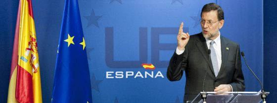 Spanish Prime Minister Mariano Rajoy at a news conference in Brussels on Friday after an EU summit.