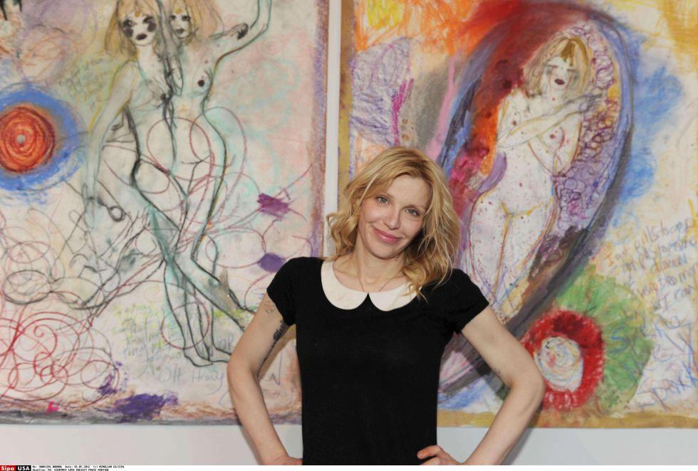 La esquizofrénica vena artística de Courtney Love   Gente y Famosos ...