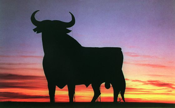 A roadside bull, one of Spain's most famous images.