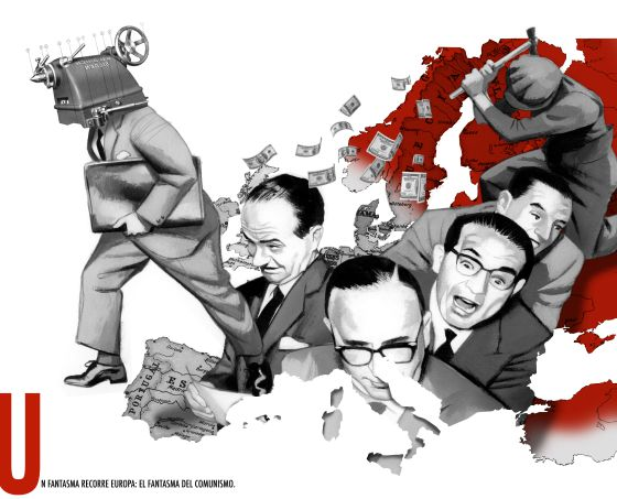 One of Fernando Vicente's illustrations for the new edition of the Communist Manifesto.