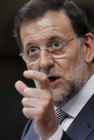 Prime Minister Mariano Rajoy in Congress on Wednesday.