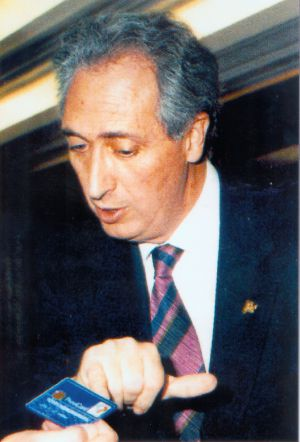 An archive photograph of Publio Cordón, kidnapped in 1995.