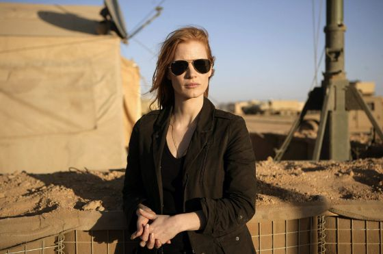 Jessica Chastain in a scene from Zero Dark Thirty.