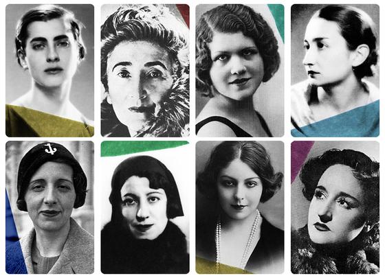 Las ocho mujeres queaparecen en eldocumental Las sinsombrero  faltan  Ángeles Santos y Margarita Manso 6373a9b1baa
