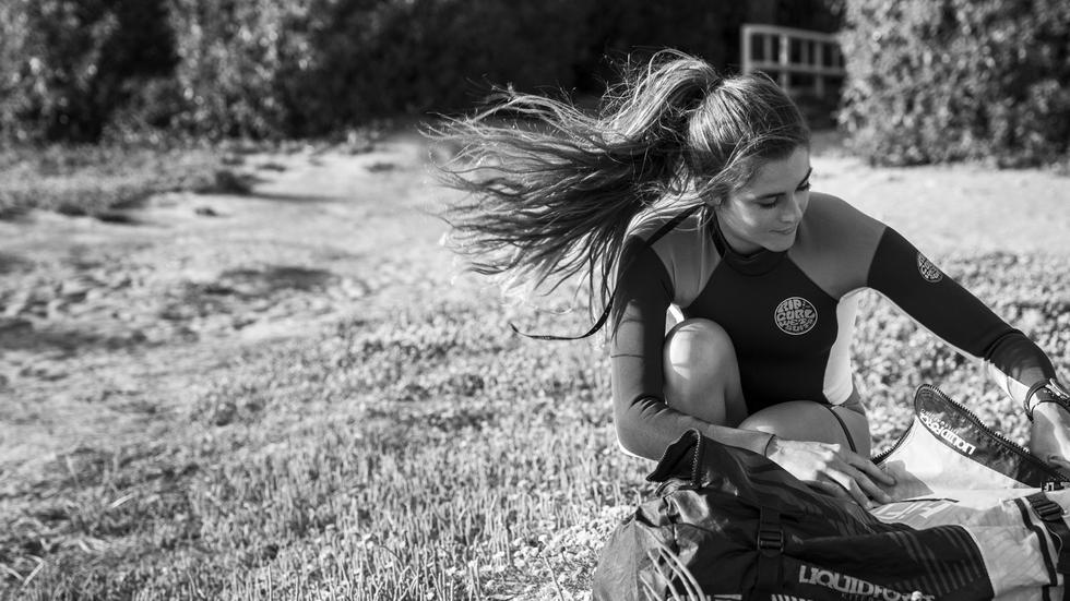 Gisela Pulido empezó su carrera deportiva con nueve años. Hoy tiene 22. En este tiempo ha logrado diez campeonatos del mundo de kitesurf.