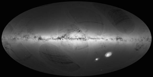 La Agencia Espacial Europea obtiene la primera imagen completa de la Vía Láctea