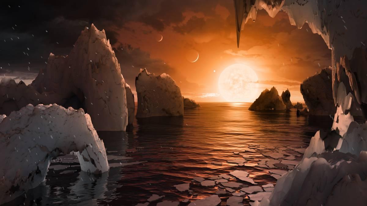 Resultado de imagen de La NASA descubre 7 planetas de los que 3 podrían ser habitables