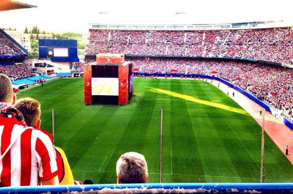 Final de Champions en el estadio