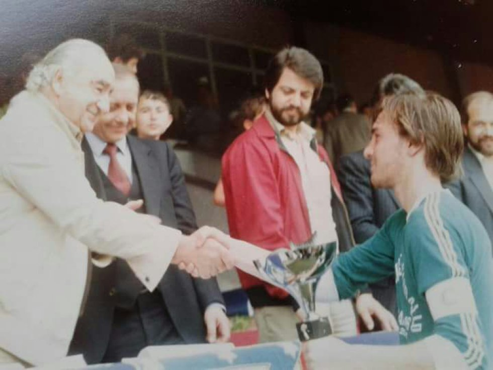 Con Vicente Calderón en la final interdistritos